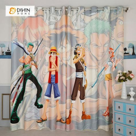Dihin Home 3d Printed One Piece Blackout Curtains Window Curtains
