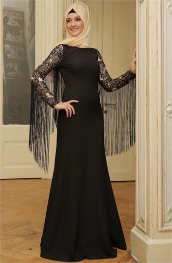 Mislinas Puskullu Abiye Elbise 15y3436 Siyah Farkli Olmaya Sevenler Icin Puskullu Tesettur Abiye Tesettur Tesetturabiye Puskulluabiye Elbise Elbiseler Giyim