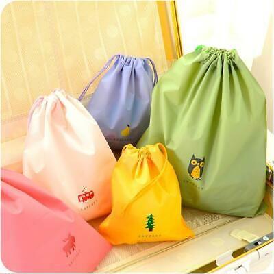 Waterproof Drawstring Storage Bag Laundry Clothing Shoe Travel Organizer Pouch