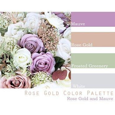 Rose Gold Wedding Color Pallet Wedding Flower Packages Cheap Wedding Flowers Purple Wedding Flowers