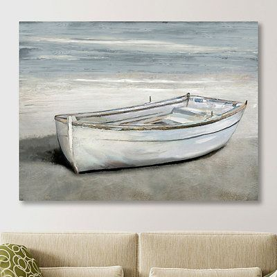 Beached Giclee Canvas Art Print In 2021 Boat Wall Art Canvas Art Prints Boat Artwork