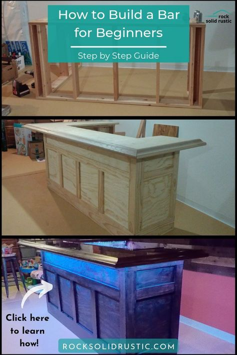 We provide a step by step guide on how to make a custom bar for your basement or .We provide a step by step guide on how to make a custom bar for your basement Home Bar Plans, Basement Bar Plans, Basement Bar Designs, Home Bar Designs, Basement Remodeling, Basement Bars, Basement Ceilings, House Remodeling, Diy Bar