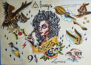 Tattoo Traditional American Harry Potter 20 Ideas Tattoo With Images Harry Potter Tattoos Harry Potter Drawings Dobby Harry Potter