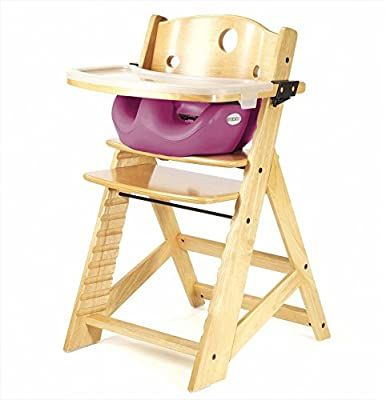 Keekaroo Height Right Highchair With Insert Tray Rasberry Natural Base Baby In 2020 High Chair Baby High Chair Best Baby High Chair