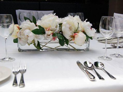 Image Result For Flower Arrangements In A Glass Trough Vase Floral