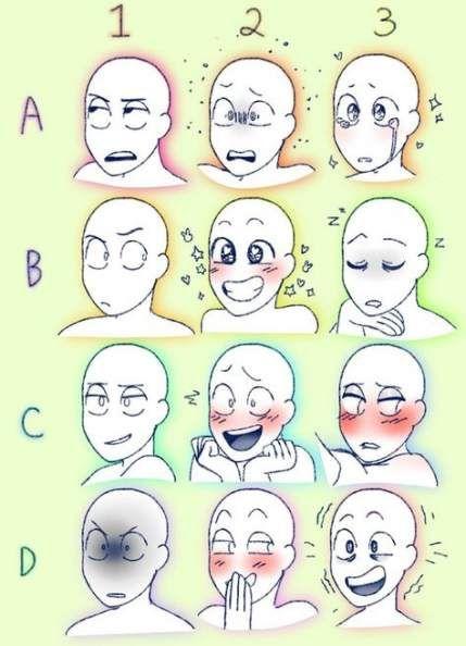 Drawing Faces Expressions Tutorials 63 Super Ideas Drawing