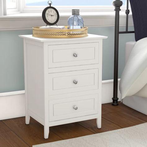 Ovellette 3 Drawer Nightstand Storage Furniture Bedroom Nightstand Storage 3 Drawer Nightstand