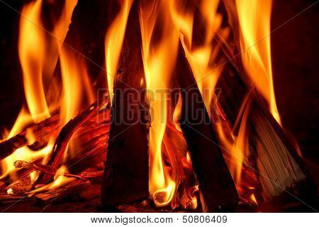 Firewood Burning In Fireplace Poster Firewood Poster Stock Photos