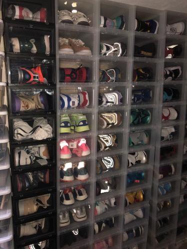 Drop front shoe box, Sneaker storage