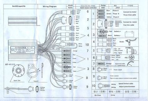 Electric Bike Controller Wiring Diagram Within E Motorcycle Wiring Electric Scooter Electric Bike