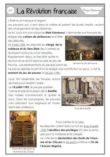 La Revolution Francaise Laclasse2delphine Histoire En Francais Histoire Cm2 Histoire Cm1