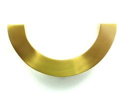 Small Half Round edged Pull, satin Brass $48 - for Ikea cabinet ...