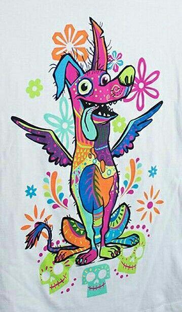 Perro Coco Dibujos Fiesta De Los Muertos Y Tatuajes Disney