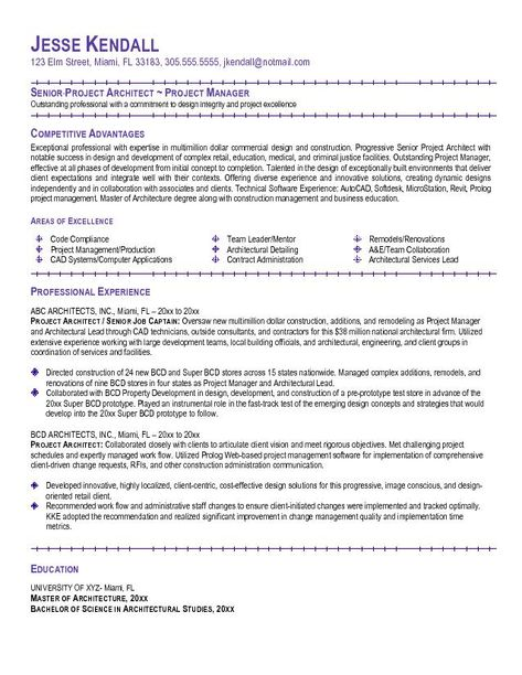 Example Project Architect Resume Latest Resume Format Architect Resume Sample Architect Resume Architecture Resume