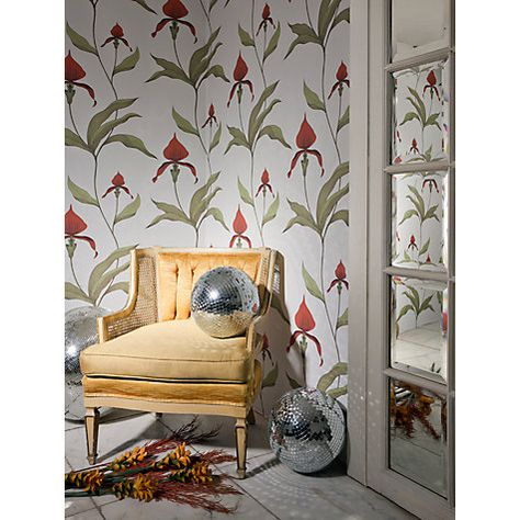 Cole Son Orchid Wallpaper Bronze On Slate 95 10056 Cole And