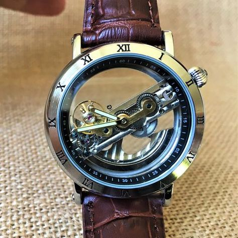 Luxury watch Personalized watch watches for men engraved watch groomsmen wat Audemars Piguet, Groomsmen Watches, Watch Engraving, Skeleton Watches, Bracelet Cuir, Patek Philippe, Luxury Watches For Men, Unique Mens Watches, Men Accessories