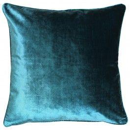 Luxe Teal Cushion 55 X 55 Teal Cushions Velvet Cushions Teal