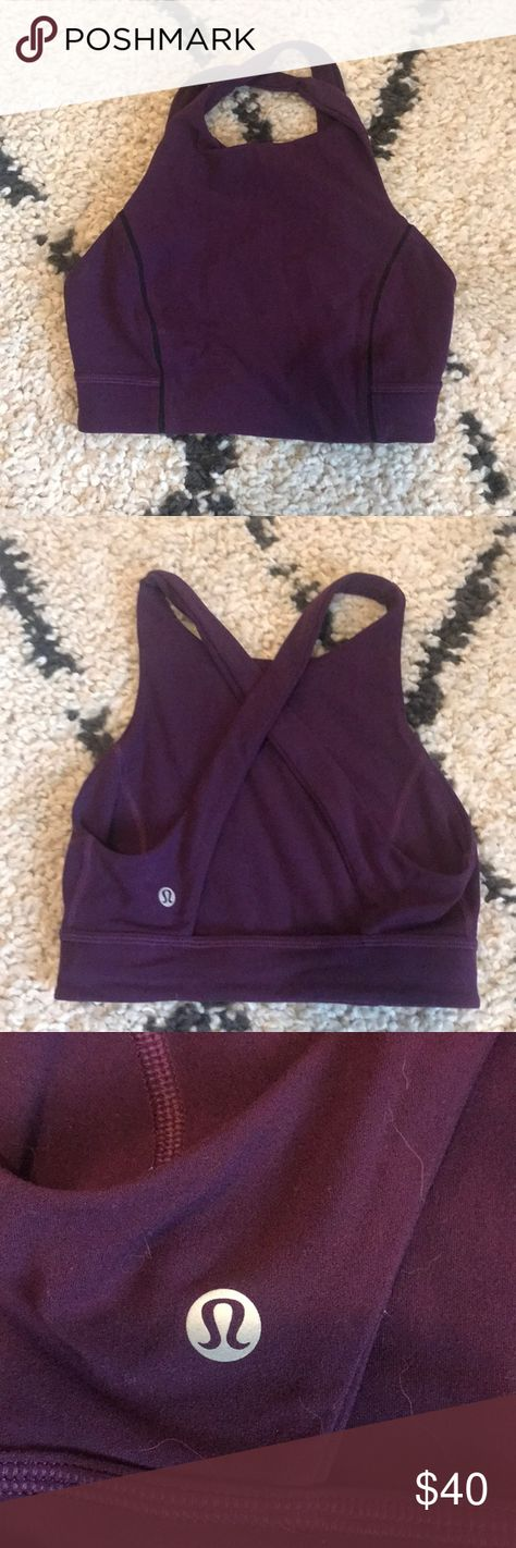 88bb7cb16 Purple Lululemon Nulu Sports Bra Crop Lululemon sports bra in great used  condition. Worn