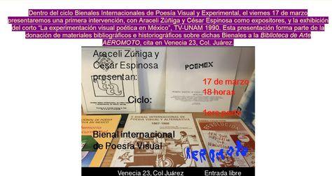 Cartelera DF: Poesía Visual y Experimental en la Juárez