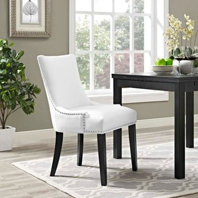 Marquis Faux Leather Dining Chair White Modway Faux Leather Dining Chairs White Dining Chairs Dining Chairs