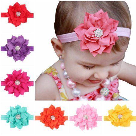 Baby Shower Hot Pink Bow Hot Pink Headband Flower Girl Gift Ribbon Flowers Flower Hair Accessories Baby Girl Flower Hair Clip Baby