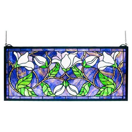 Meyda Tiffany Magnolia Stained Glass Window - Walmart.com   Home ...