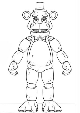 Fnaf Toy Golden Freddy Coloring Page Coloring Pages Printable