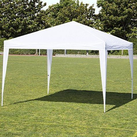 Ez Pop Up Patio Canopy Parties Tent Durable 10x10 With Carrying Case Steel Frame Ezpopuppatiocanopypar Canopy Outdoor Canopy Tent Pop Up Canopy Tent