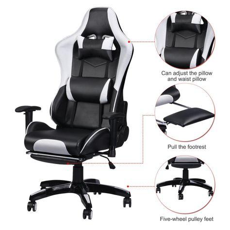 Sedie Regolabili Sedia Da Ufficio.Corsa Gaming Sedia Da Ufficio Scrivania Del Computer 360 Gradi