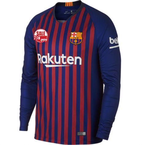 622d402c386 Barcelona LS Home Soccer Jersey Shirt 2018-19 Model: Goal63760 Long Sleeve Messi  Football Kits on goaljerseyshop.com