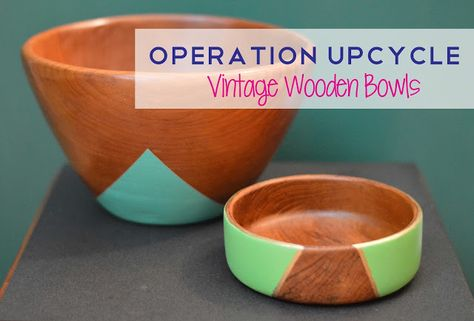 Pies and Puggles: Upcycled Vintage Wooden Bowls
