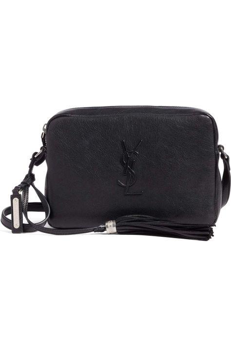 92902419c6d This minimalist crossbody bag makes maximum impact with an embossed logo  monogram and dramatic tassel embellishment. | Vintage