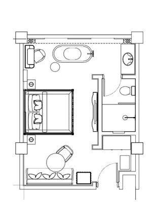 The Gunawarman Jakarta The Wood Room Deluxe 32 Sqm Hotel Bedroom Design Hotel Room Design Hotel Floor Plan