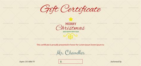 Download Christmas Decorative Gift Certificate Template (#852S) MS WORD in Microsoft Word (DOC). Christmas Decorative Gift Certificate Template (#852S) MS WORD is designed by expert designers and is completely customizable. Download, Edit  Print.