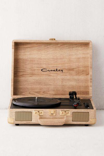 Crosley Uo Exclusive Wood Cruiser Bluetooth Record Player Bluetooth Record Player Wooden Record Player Record Player