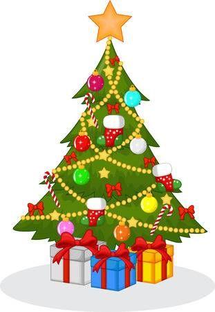 Decorado De Dibujos Animados De Arboles De Navidad Dibujos Animados De Navidad Arboles De Navidad De Fieltro Imagenes De Arbol De Navidad