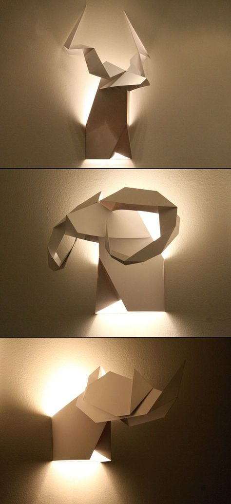 Abstractions of animal heads origami Hunter