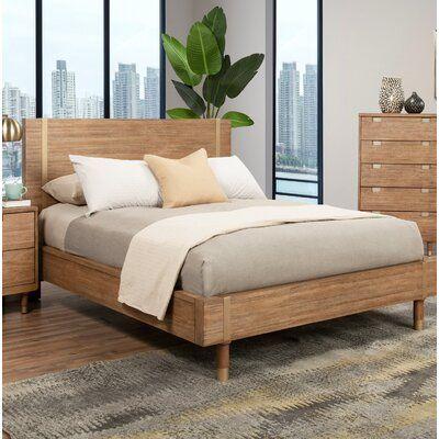 Mercury Row Byron Low Profile Platform Bed In 2021 Brown Bed Frame Bedroom Furniture Beds Platform Bed Wood bed frame and headboard
