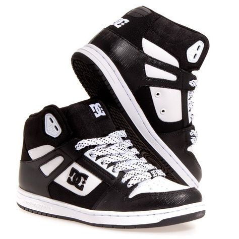 DC Shoes Womens Rebound Hi Leather Skate Casual Skate Shoes