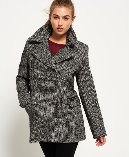 Pin On Caban, Superdry Classic Pea Coat Navy
