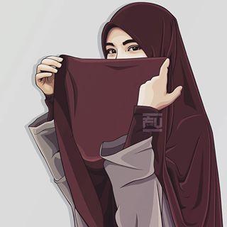 Wallpaper Kartun Muslimah 3d Gambar Gambar Kartun Kutipan Anak Perempuan