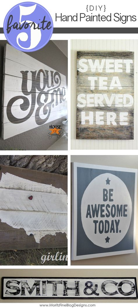 Love hand-painted signs? These amazing signs each have DIY tutorial to tell you how to make the sign yourself! Every DIY Hand Painted Sign tutorial is a different method. A perfect opportunity to get craftty