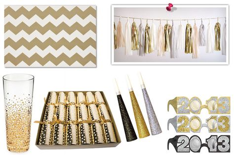 New Year's Eve party ideas and tips. Love the gold details. #newyears #golddecorations