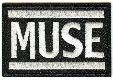 MUSE BLACK WHITE Embroidered Iron On Sew On Patch 2 DESIGNS