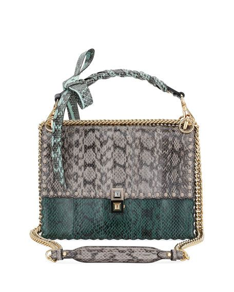 382507ac Fendi Kan I Regular Snakeskin and Calf Shoulder Bag in 2019 | Dream ...