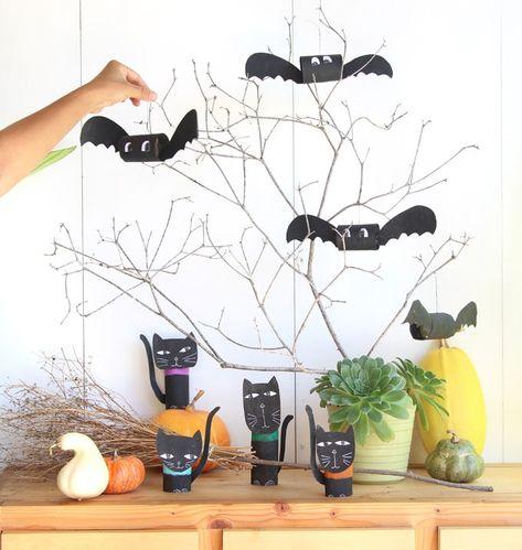 Magical diy halloween bats minute craft  piece of rainbow also do it yourself rh pinterest