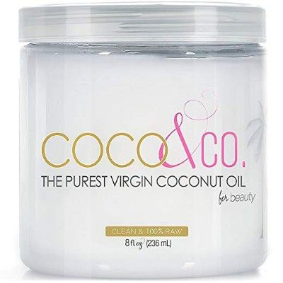 Coconut Oil For Hair Skin By Coco Co Beauty Grade 100 Raw 8 Oz Best Coconut Oil Coconut Oil Skin Care Coconut Oil For Skin