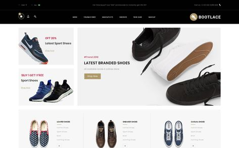 Bootlace Shoes Store Opencart Template 79400 Opencart Templates