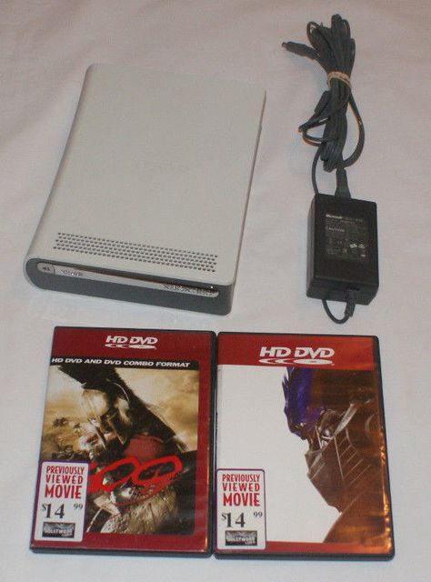 Microsoft XBox 360 HD DVD Player with 2 HD DVDs Official Power Adapter
