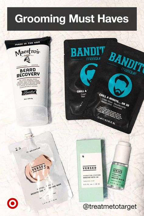 Check out men's self-care  skin care products, from beard balms to hairstyle creams for healthy hair  skin routines.